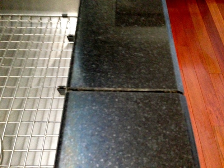 Small gap in the countertop