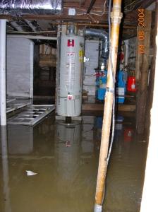 basement flooded in 2004